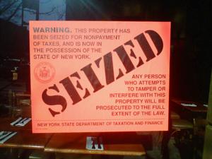 Prejudgment writ of attachment property seizure
